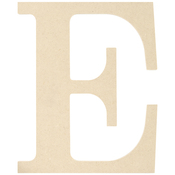 E - MDF Classic Font Wood Letters & Numbers 9.5""