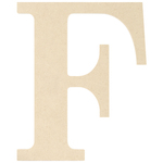 """F - MDF Classic Font Wood Letters & Numbers 9.5"""""""