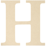 """H - MDF Classic Font Wood Letters & Numbers 9.5"""""""