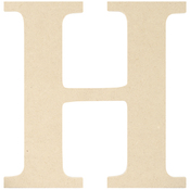 H - MDF Classic Font Wood Letters & Numbers 9.5""