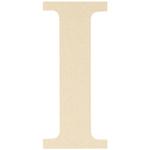 "I - MDF Classic Font Wood Letters & Numbers 9.5"""