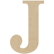 J - MDF Classic Font Wood Letters & Numbers 9.5""