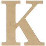 """K - MDF Classic Font Wood Letters & Numbers 9.5"""""""