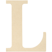 L - MDF Classic Font Wood Letters & Numbers 9.5""