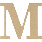M - MDF Classic Font Wood Letters & Numbers 9.5""