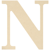 N - MDF Classic Font Wood Letters & Numbers 9.5""