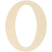 """O - MDF Classic Font Wood Letters & Numbers 9.5"""""""