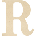 """R - MDF Classic Font Wood Letters & Numbers 9.5"""""""