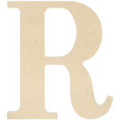 R - MDF Classic Font Wood Letters & Numbers 9.5""