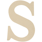 """S - MDF Classic Font Wood Letters & Numbers 9.5"""""""
