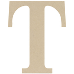 """T - MDF Classic Font Wood Letters & Numbers 9.5"""""""