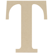T - MDF Classic Font Wood Letters & Numbers 9.5""