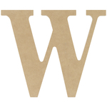 """W - MDF Classic Font Wood Letters & Numbers 9.5"""""""