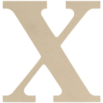 """X - MDF Classic Font Wood Letters & Numbers 9.5"""""""