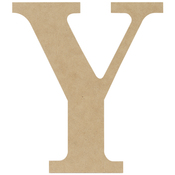 Y - MDF Classic Font Wood Letters & Numbers 9.5""