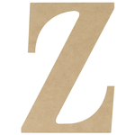 """Z - MDF Classic Font Wood Letters & Numbers 9.5"""""""