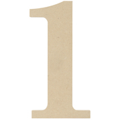 1 - MDF Classic Font Wood Letters & Numbers 9.5""