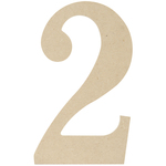 """2 - MDF Classic Font Wood Letters & Numbers 9.5"""""""