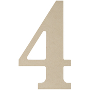 4 - MDF Classic Font Wood Letters & Numbers 9.5""