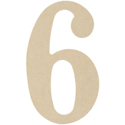 """6 - MDF Classic Font Wood Letters & Numbers 9.5"""""""