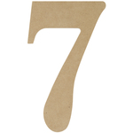 """7 - MDF Classic Font Wood Letters & Numbers 9.5"""""""