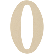 0 - MDF Classic Font Wood Letters & Numbers 9.5""