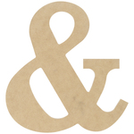 """& - MDF Classic Font Wood Letters & Numbers 9.5"""""""