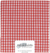 "Red Gingham - Fabric Palette Precut 18""X21"" 1/Pkg"