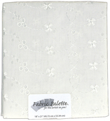 "White Eyelet - Fabric Palette Precut 18""X21"" 1/Pkg"