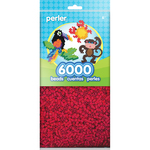 Red - Perler Beads 6,000/Pkg