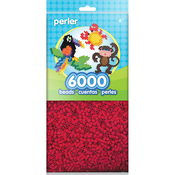 Red - Perler Beads 6,000/Pkg