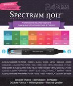 Brights - Spectrum Noir Alcohol Markers 24/Pkg