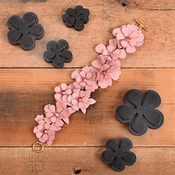 Leather Carnation Stack - Sizzix Movers & Shapers Magnetic Die Set By Jill MacKay (R)