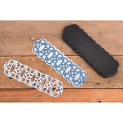 Leather Open Work Bracelet - Sizzix Movers & Shapers Magnetic Dies By Jill MacKay (R)
