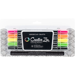 Flourescent - Creative Zen Adult Coloring Markers 5/Pkg