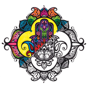 "Hamsa - Adult Coloring Canvas 12""X12"" W/12 Markers"