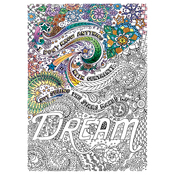 "Dream - Adult Coloring Canvas 16""X20"" W/12 Markers"