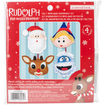 Rudolph The Red-Nosed Reindeer Ornaments Felt Applique Kit