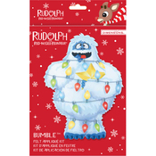 Rudolph The Red-Nosed Reindeer Bumble Felt Applique Kit