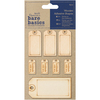 Tags - Papermania Bare Basics Adhesive Wooden Shapes 8/Pkg