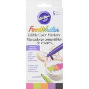 Neon - Food Writer Fine Tip Edible Color Markers .35oz 5/Pkg