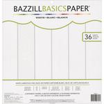 Basic Whites - Bazzill Basics 12 x 12 Cardstock Pad