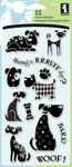 "Dogs - Inkadinkado Clear Stamps 4""X8"""