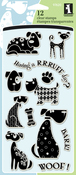 "Dogs - Inkadinkado Clear Stamps 4""X8"""