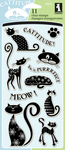 "Cats - Inkadinkado Clear Stamps 4""X8"""