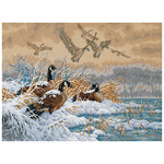 """16""""X12"""" 18 Count - Gold Collection Winter Retreat Counted Cross Stitch Kit"""