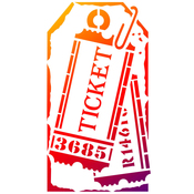 "Label Tickets - Viva Decor Universal Stencil 5.83""X8.27"""