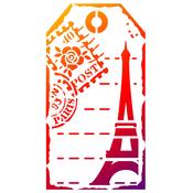 "Label Paris - Viva Decor Universal Stencil 5.83""X8.27"""