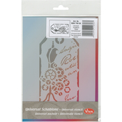 "Label Dress Mummy - Viva Decor Universal Stencil 5.83""X8.27"""