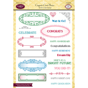"Congrats Card Basics - Justrite Papercraft Clear Stamps 6""X8"""